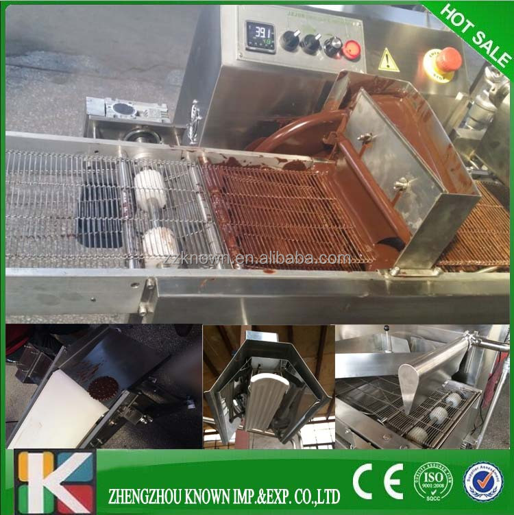 Automatic chocolate dipping machine/chocolate glazing machine/chocolate enrober