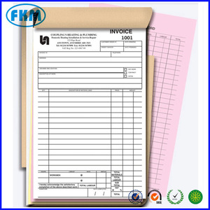 Carbonless Business Invoice Sample Book Printing