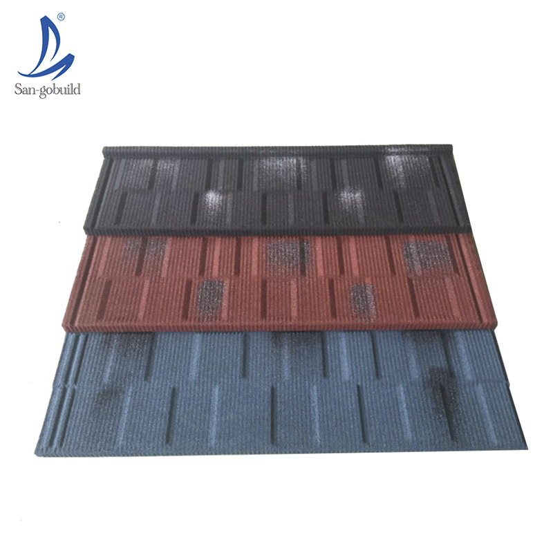 construction building materials Decorative Aluminum Plate Colorful Steel Roofing Shingles milano stone coated metal roof tile