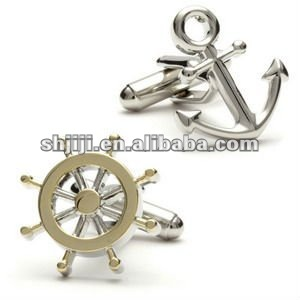 Lifelike Anchor And Wheel Metal Cufflinks Factory