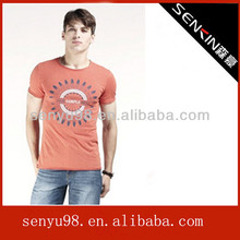Smooth colorful t-shirt for men with national flavor