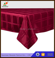Tablecloth Damask Tablecloth Red Table Cover