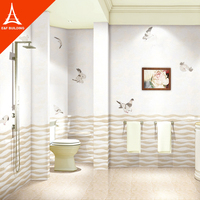 latest high glossy surface bathroom mirrored wall designs tiles