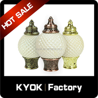 KYOK Exporting to Middle Asia, grateful resin curtain rod finial/end caps, double wrought iron curtain pole/tubes