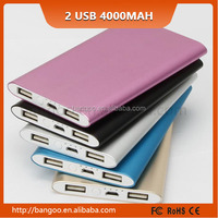 Alibaba Shenzhen manufacturer customized 4000mah 2 USB mobile phone charge For Mobile Phone