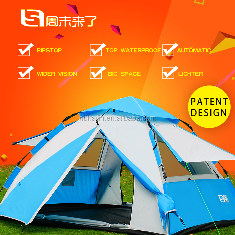 4 person cheap factory price promotional instant tent, automatic opening tent