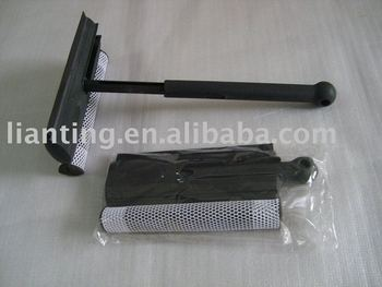 Folding window squeegee