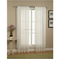 "size 60""x84"" 2 Piece Solid White Sheer Window Curtains/drape/panels/treatment"