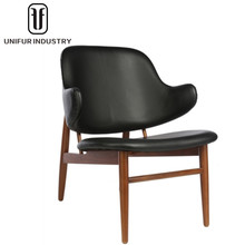 Replica Ib Kofod Larsen classic design back upholstered Larsen easy chairs with tapered legs