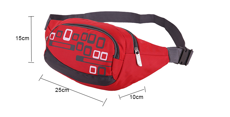 fashion sports nylon waist bag quality factory price Chinese products travel money belt