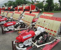 4 rows hand operated rice transplanter/rice planting machine and prices