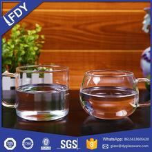 300ml Chinese factory low price drinking glass tea cup for cafe milk juice water 300ML