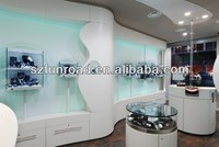 Beautiful and attractive jewelry wall glass display cabinet in China