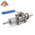 "Stainless Steel Homebrew Weldless Kettle Valve Kit, 1/2""BSP Ball Valve with Quick Disconnects"