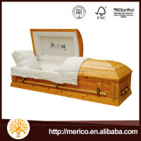 luxury wood funeral casket supplier