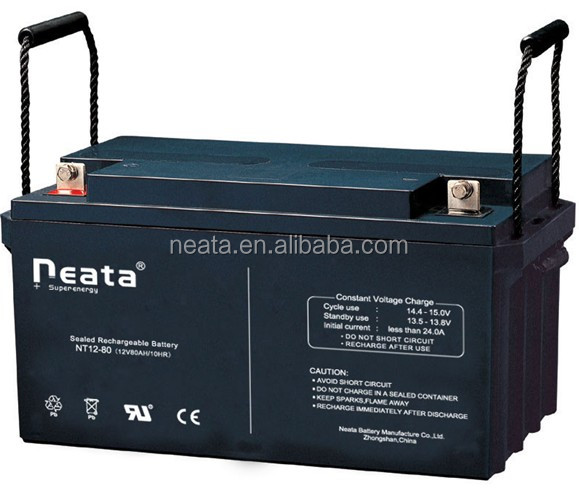 <NEATA BATTERY>80ah 12V motor home solar battery deep cycle and gel battery