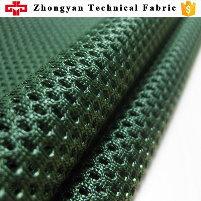 Polyester heavy weight 430gsm warp net bullet vest air linner fabric