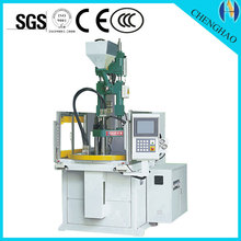 plastic Rotary double sliding table injection molding machine for key chain made in China