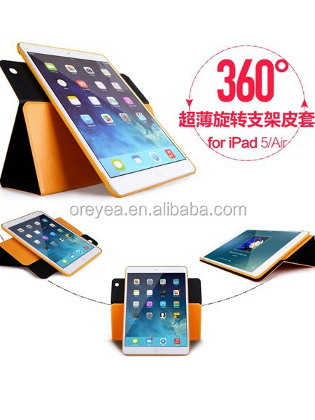 new product for apple ipad mini case , 360 rotating case cover leather for apple ipad mini
