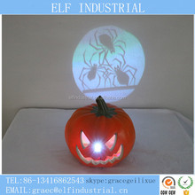 Diy decoration designs halloween led plastic pumpkin with removable face