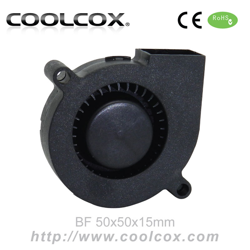 CoolCox 5015 small blower fan,50x50x15mm mini turbo fan,5V/12V/24V,DC brushless electric fan blowers