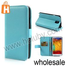 Lichee Pattern Walllet Magnetic Flip Stand PC+Leather Case For Samsung Galaxy Note 3 N9000 N9002 N9005