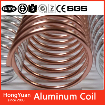 Hongyuan Binding materials Aluminum Rose Gold Aluminum Coil,Popular China Aluminum Coil, Color Coated Aluminum Coil Binding Coil
