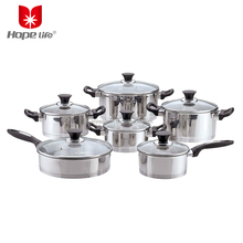 High quality stainless steel capsuled bottom cookware set with bakelite handle