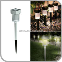 Stainless Steel Square shaped Outdoor Solar LED Garden Stake Light Lamp for Outside Yard Path Landscap (JL-8582)