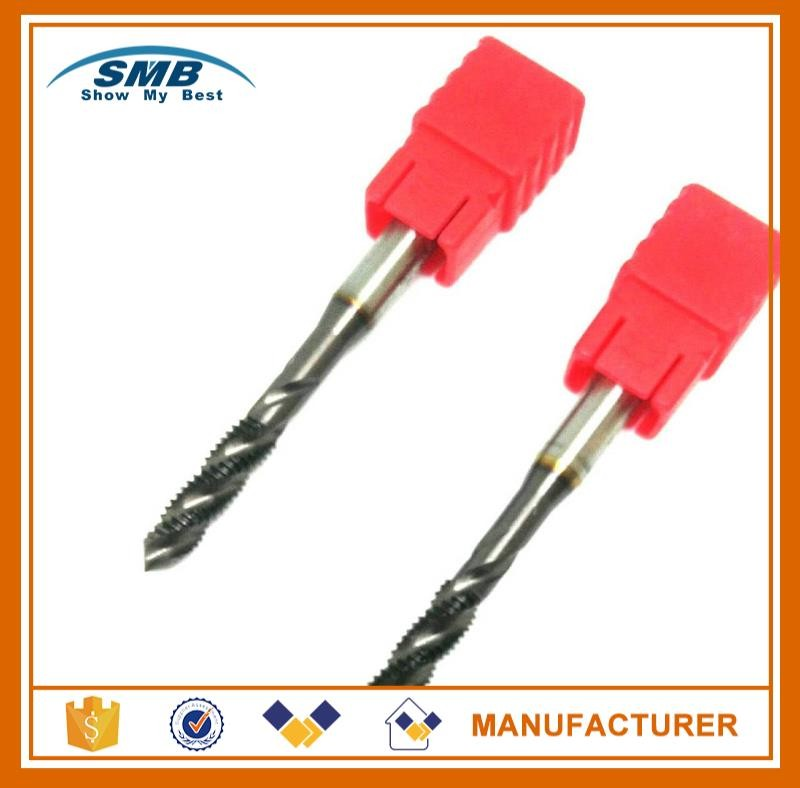 Brand new solid carbide machine taps spiral fluted tap with best quality and low price