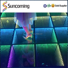 2016 New Arrivals RGB Mirror Infinite Effects of Lights, Led Dance Floor Tile for dj