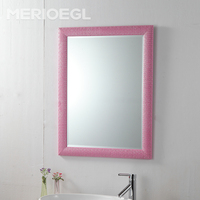 Wholesale framed mirrors super thin glass mirror wall mount makeup mirror