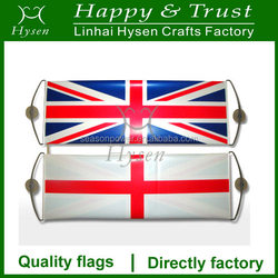 hand self rolling banner with UK and England printing