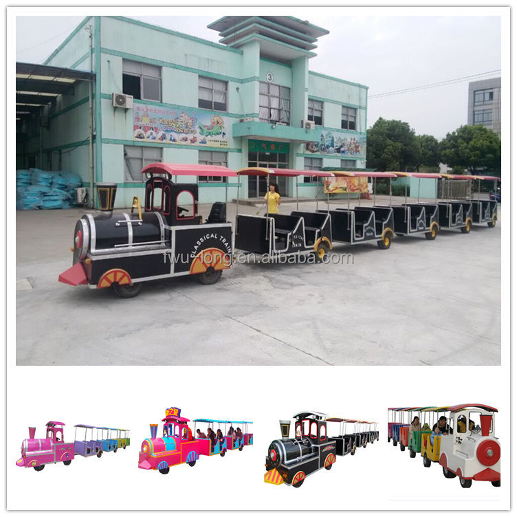 Shopping mall amusement trackless train for road train transport