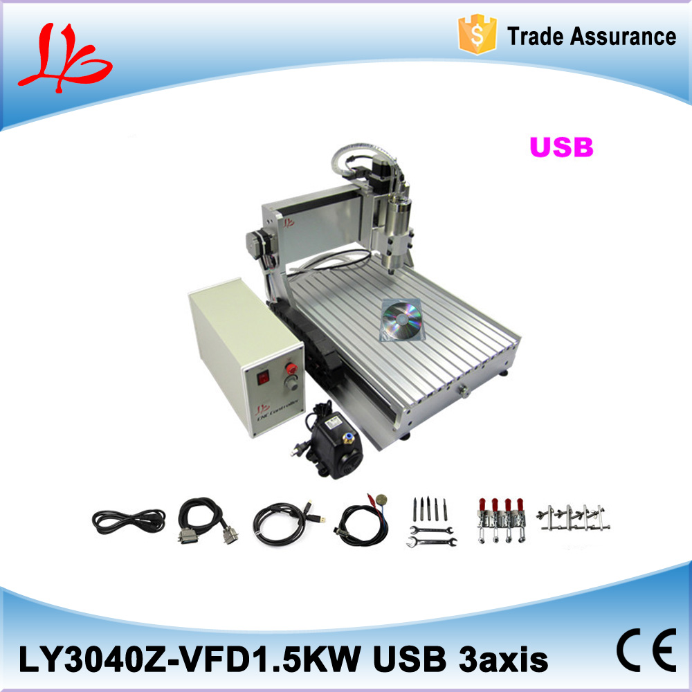 DIY <strong>cnc</strong> 3040 3 axis USB port 1500w,one year quality warranty
