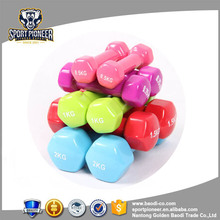4kg nantong wholesale dumbbell vinyle covered black chest exercises equipment