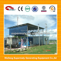 10-1000KW Water cooled biogas generator plant with H2S filter