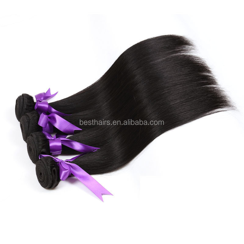 Wholesale Straight Wave human hair, Pure Indian Remy protein hair, Virgin Weft south east asian hair