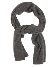 dark grey thick pure cashmere knit scarves for adults