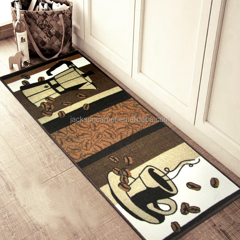 Modern machine washable kitchen floor rubber backed kitchen area rugs