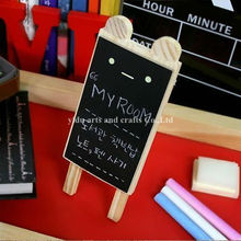 cat shape stand blackboard wooden writting blackboard customized hanging chalkboard