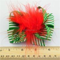 Top quality classical black zebra korker hair bows