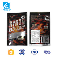 SAFETY FOOD GRADE three side sea plastic bag for beef jerky packaging