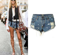 Z57446B New Arrive Summer Hot Fashion Ladies Sexy Denim Ripped Tight Jeans Shorts