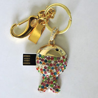 OEM Bulk gift 100% real Capacity usb 2.0 crystal fish shape cheap usb flash drive no case for promotional products