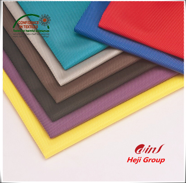 1680D ballistic nylon/ polyester double yarn fabric with pu coated for backpack/ sports bag