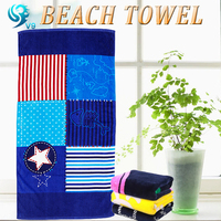 China factory pure cotton velour custom health dye printed eco beach towel