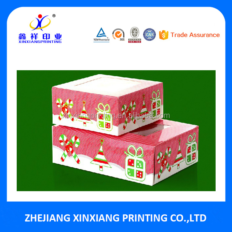 Christmas Series Cupcake and Dessert Packaging Boxes