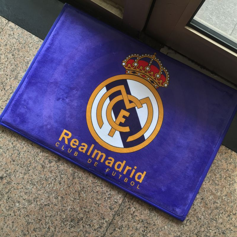 Football Teams Manchester United Barcelona Real Madrid Bayern Munich Logo Promotion Welcome Door Floor Mats