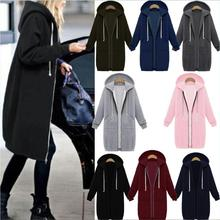 EBay aliexpress Amazon explosion in the long thick zippered Hoodie sweater coat promotion